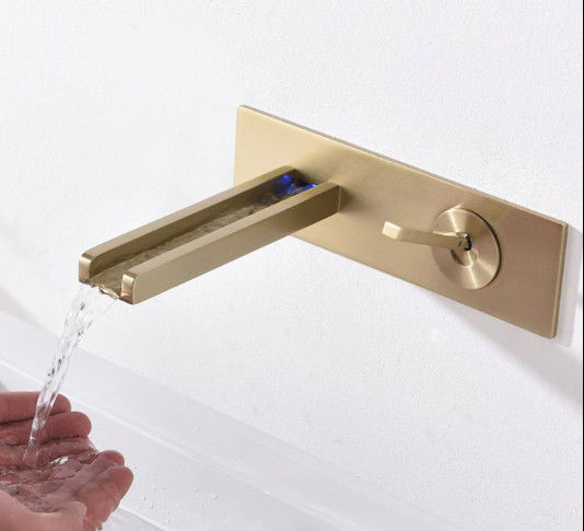 LED Luminous Concealed Waterfall New Design Faucets
